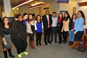 Delaware State University President Harry L. Williams gathers with university students who are undocumented and risk possible deportation. (Photo courtesy of Delaware State University)