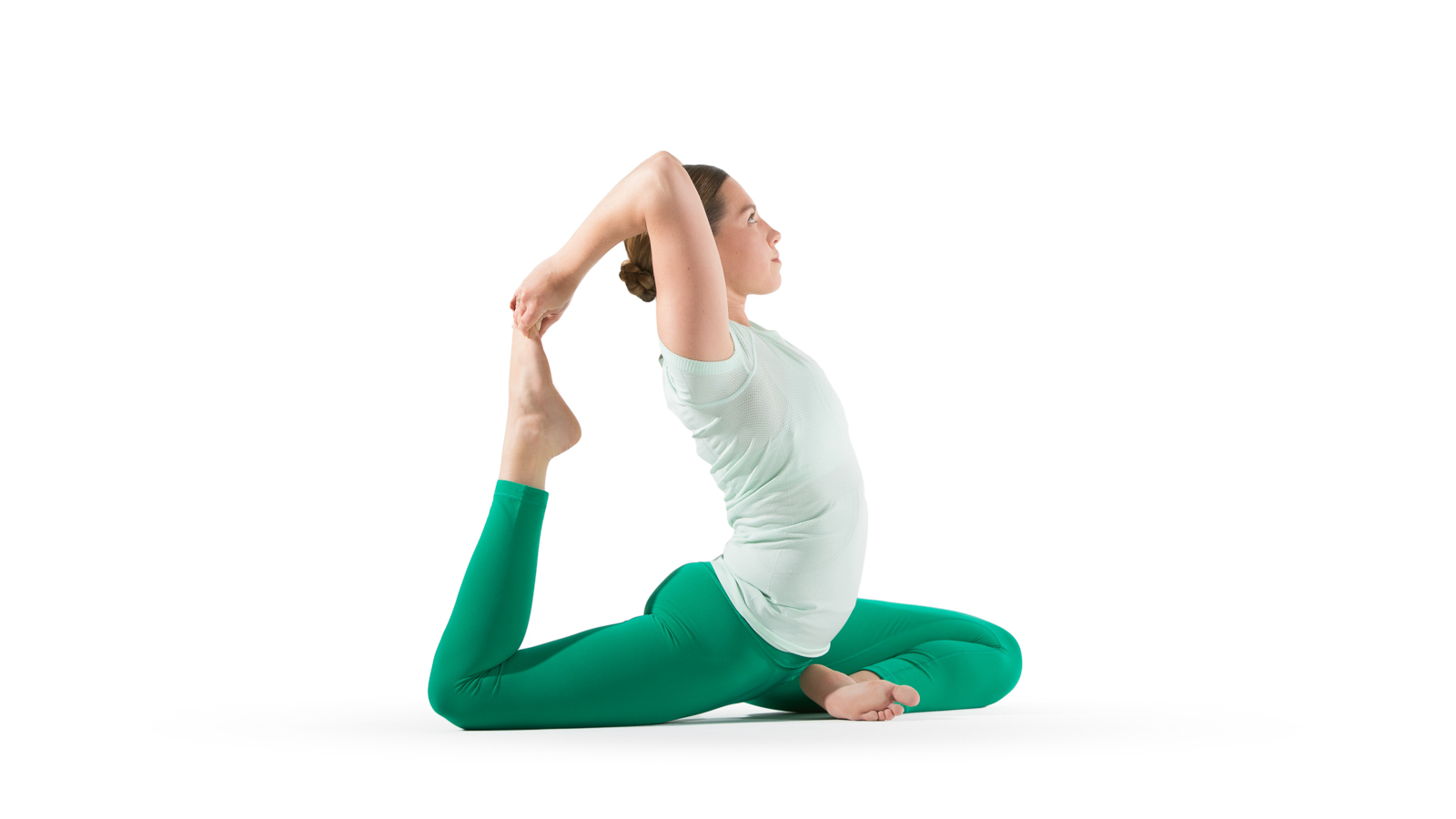 One Leg King Pigeon Pose Yoga International