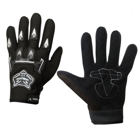 Knighthood 1 Pair of Hand Grip Gloves for Bike Motorcycle Scooter Riding - Black Colour