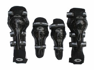 New Axo Motorcycle Racing Riding Knee & Elbow Guard Pads protector Gear Black
