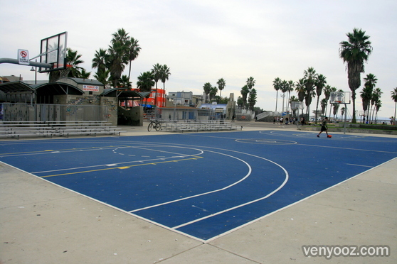 Beach basketball court