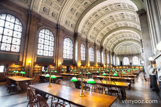 Bates Hall At Boston Central Library Boston Ma Venyooz