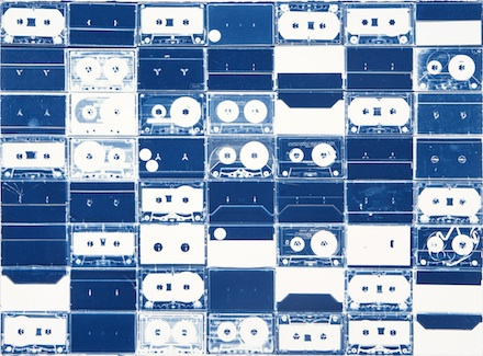 Marclay-Cyanotypes-Fraenkel (Cassette Grid #13)