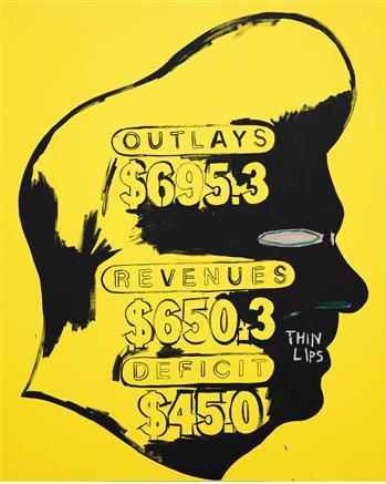 Andy Warhol & Jean-Michele Basquiat Thin Lips 1984-85