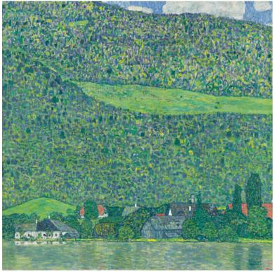 Gustav Klimt Litzberg am Attersee 1914-15