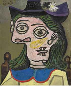 Pablo Picasso Tête de Femme au Chapeau Mauve 1939