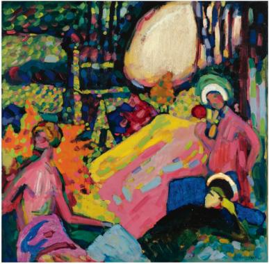 Wassily Kandinsky Weisser Klang 1908