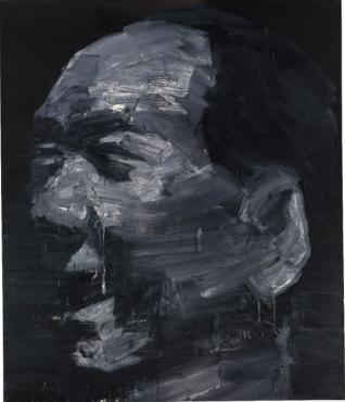 Yan Pei-Ming Portrait De Mao Noir 1998