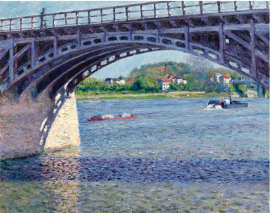Gustave Caillebotte Le Pont D'Argenteuil et La Seine c. 1883