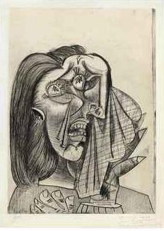 Pablo Picasso La Femme Qui Pleure, I 1938