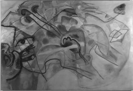 Vasily Kandinsky - Infrared reflectogram PWWB - Guggenheim Museum