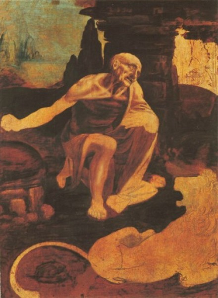 st jerome -- court painter -- da vinci