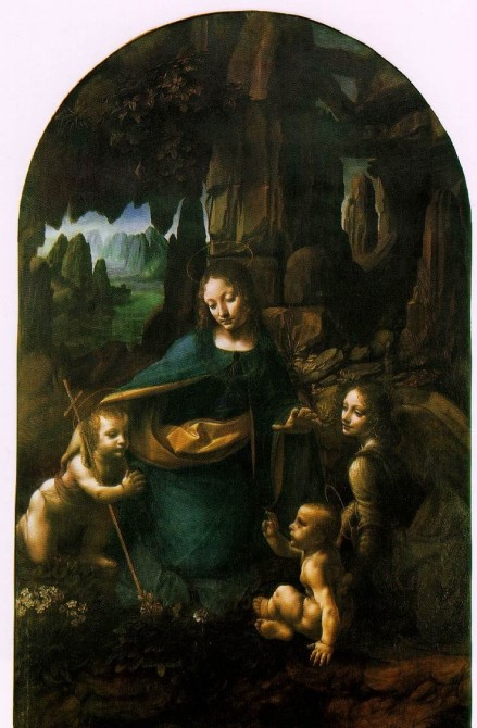 virgin of the rocks -- da vinci -- national gallery court of milan