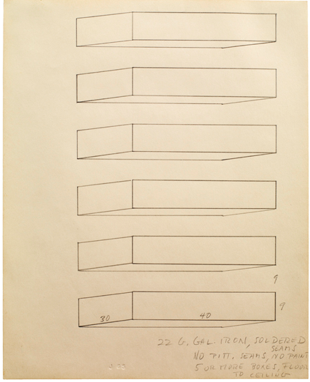 Donald Judd, Untitled (1965). Sprueth Magers