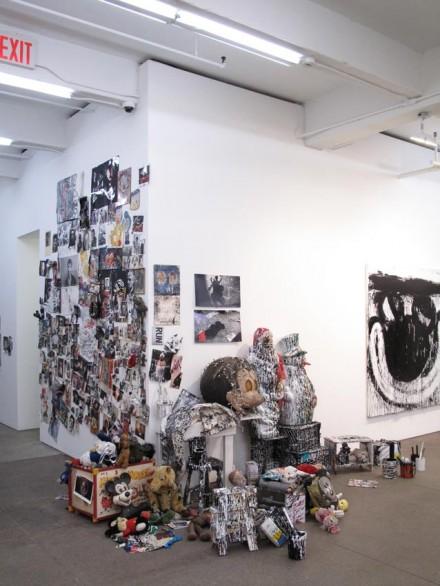 Joyce Pensato, Installation View (2012), Friedrich Petzel Gallery