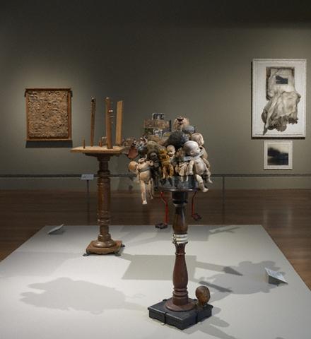 LA assemblage installation view-Crosscurrents exhibition