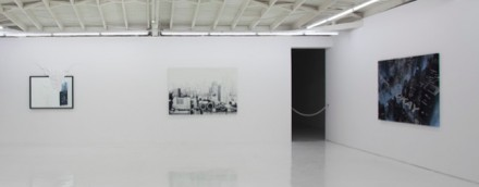 Daniel Arsham, Installation view (2012). the fall, the ball, the wall, OHWOW 06