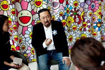 Murakami at the press conference via QMA facebook