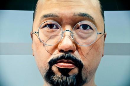 Murakami sculpture at Ego (2011) press conference, via QMA facebook