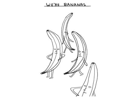 """David Shrigley, """"We're Bananas"""" (2011)"""