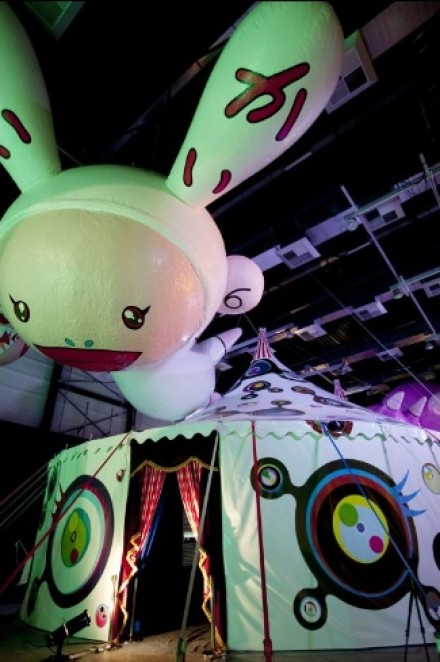 Takashi Murakami, animania tent (2011), image via Huffington Post