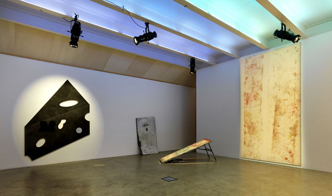 04 Nate Lowman Massimo de Carlo Swiss Cheese and the Doors A One Night Stand Installation View 2012