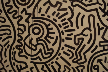 Detail of Matrix (1983), copyright Keith Haring Foundation