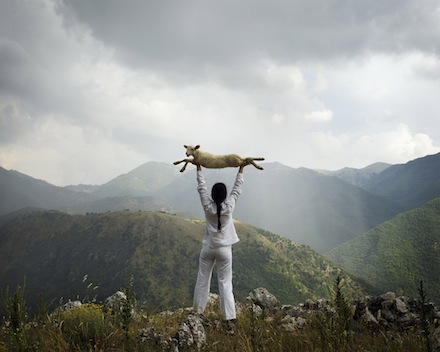 Marina Abramovic, Holding the lamb. The Abramovic Method, Padiglione d'Arte Contemporanea