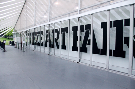 Entrance - Frieze NYC - 2012