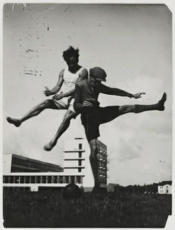 Lux Feininger, Sport at the Bauhaus (1927), Barbican.