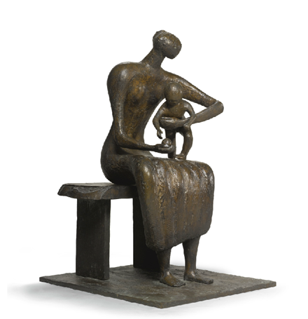 Henry Moore - Mother and Child with Apple - Impressionist and Modern Sale - Sotheby's - 2012