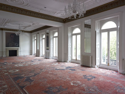 Installation view, Rudolf Stingel, 9 Grosvenor Place, 2012