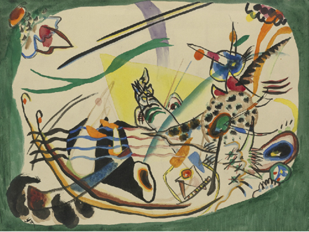 Wassily Kandinsky - Study For Green Border - Impressionist and Modern Sale - Sotheny's - 2012