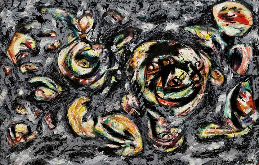 "Jackson Pollock, ""Ocean Greyness"" (1953), Solomon R. Guggenheim Museum"