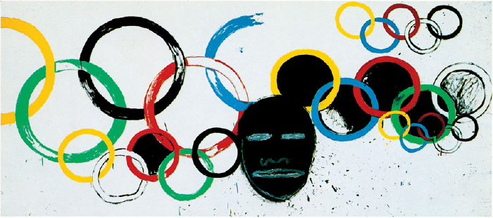 Andy Warhol and Jean-Michel Basquiat - Olympic Rings - Gagosian
