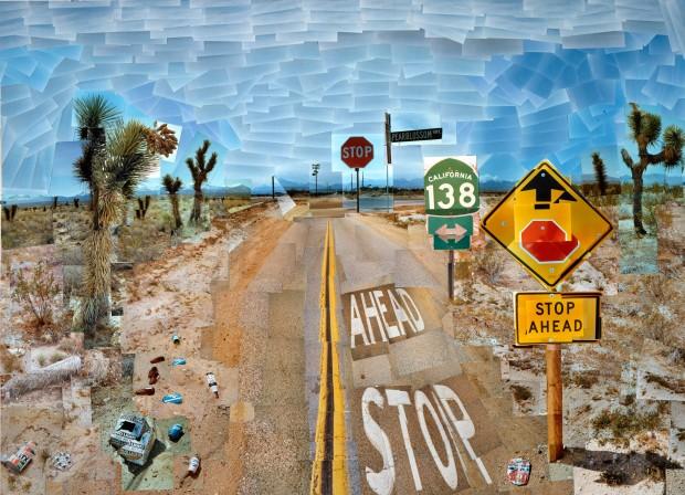 David Hockney - Pearblossom Highway, 11-18 April 1986 #1 (1986), Guggenheim Bilbao