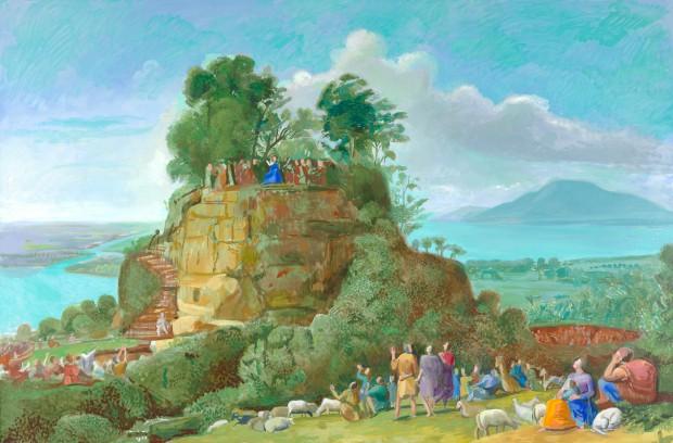 David Hockney - The Sermon on the Mount II (After Claude) (2010), Guggenheim Bilbao