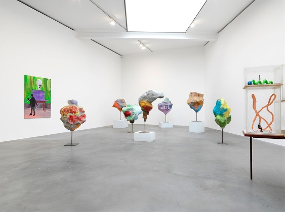 Image, Franz West,Installation view, via Gagosian Gallery, Mike Bruce