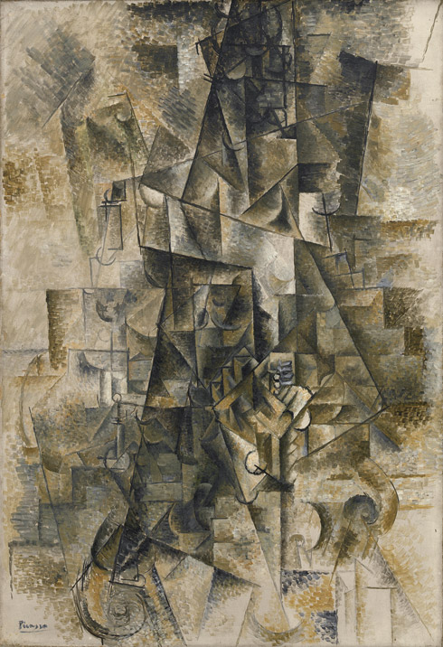 Pablo Picasso - Accordionist (1911), Via The Guggenhem Museum
