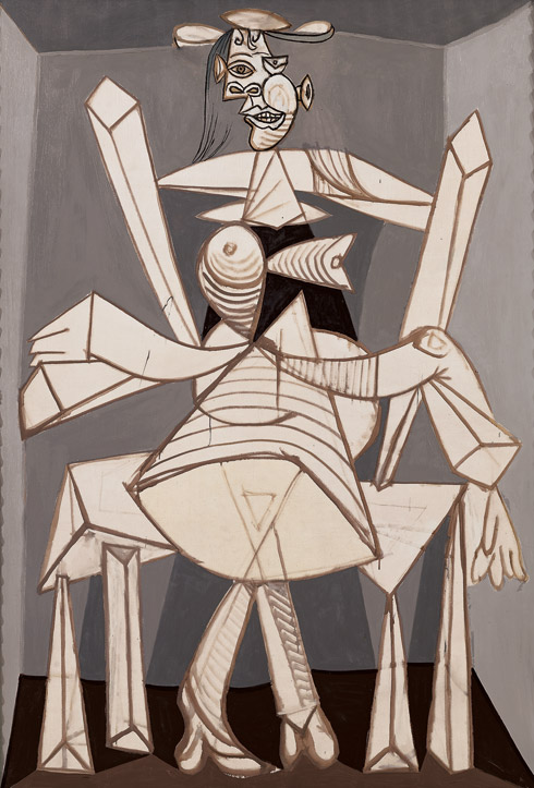Pablo Picasso - Seated Woman in an Armchair (1938), Via The Guggenhem Museum