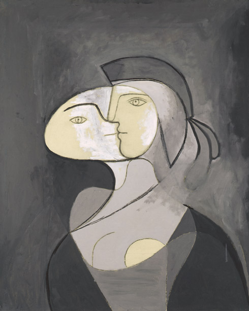 Pablo Picasso - Marie-Thérèse, Face and Profile (1931), Via The Guggenhem Museum