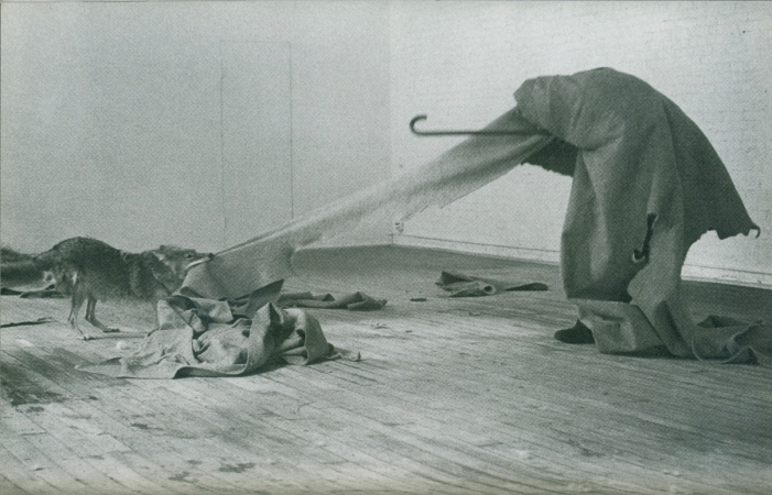 Joseph Beuys Aktion «I like America and America likes Me 1974