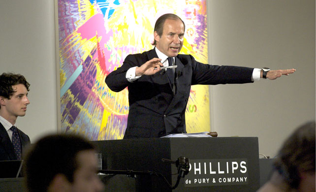 Simon de Pury Phillips Auction House courtesy GQ