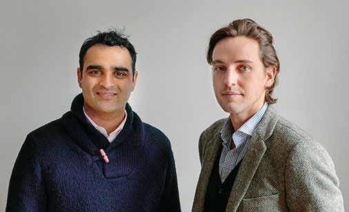 Paddle8's co-founders Aditya Julka and Alexander Gilkes, via Art Newspaper