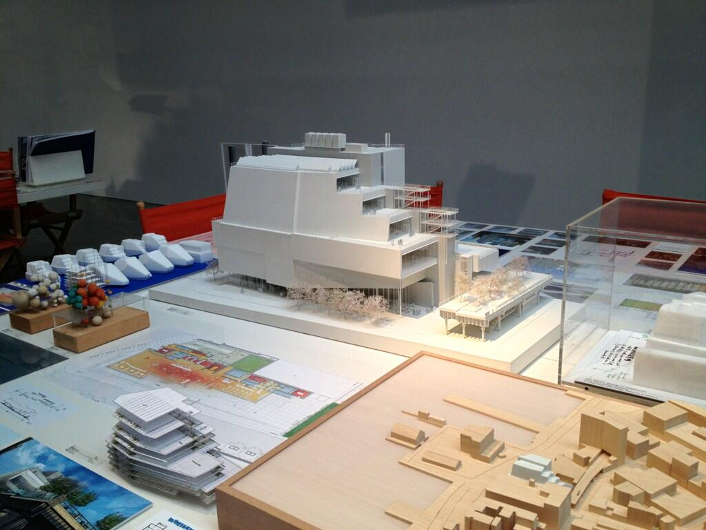 Renzo Piano, Model for New Whitney Museum (Installation View), Alex Cosio