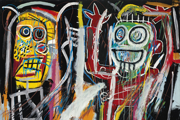 """Dustheads"" (1982) by Jean-Michel Basquiat."