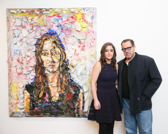 Allison Brant and Julian Schnabel at the Brant Foundation Art Study Center, via David X Prutting BFAnyc.com