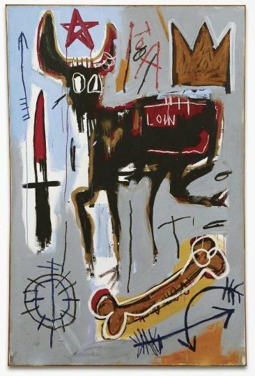 JEAN-MICHEL BASQUIAT_Loin,1982_Acquavella Galleries at Art Basel Miami