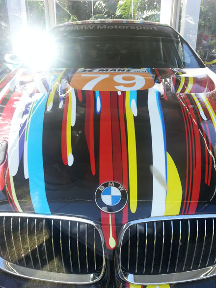 JEFF COONS_BMW Art Car_Miami Beach 2013