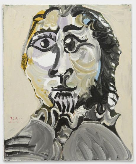 PABLO PICASSO_Tête d'homme_1969_Acquavella Galleries